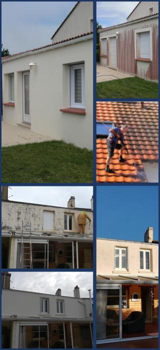Entreprise Boju travaux de demoussage et nettoyage de façade et toiture